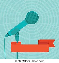 conferência, falando, conceito, público, negócio