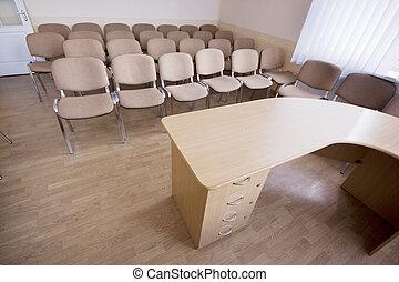 conferência,  Interior, modernos, sala, escritório