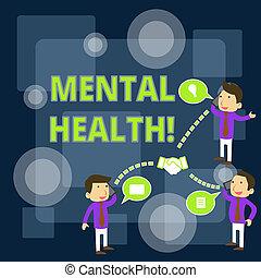 conferência, nota, ou, mental, negócio, nível, móvel, foto, discussão, coworker, wellbeing, escrita, psicológico, estado, chamada, homens negócios, demonstrar, showcasing, telefone., mostrando, health.
