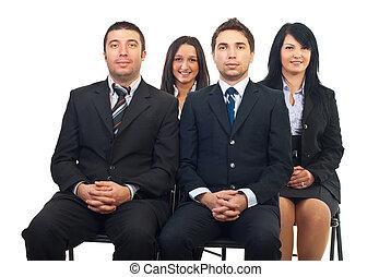 conferência, pessoas negócio
