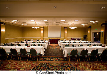 conferência, room., vazio