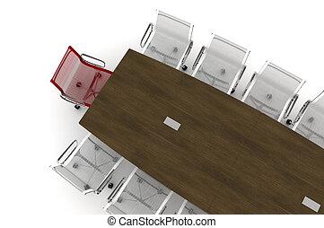 conferência, table-3d, ilustração