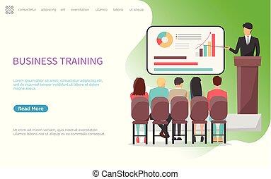 conferência, treinamento, escritório, seminário negócio