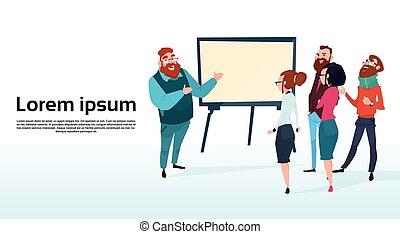 conferência, treinamento, financeiro, pessoas negócio, gráfico, mapa, inverter, brainstorming, equipe, apresentação, seminário