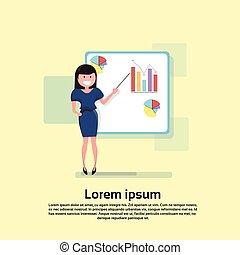 conferência, treinamento, mulher, financeiro, negócio, carta aleta, brainstorming, apresentação, seminário
