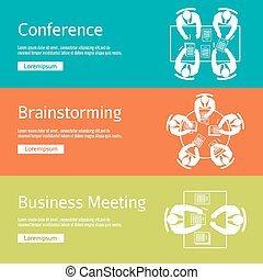 Conference, business meeting and brainstorming