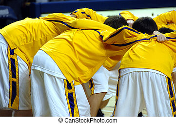 Conference call - High school varsity basketball team...