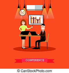 Conference concept vector Illustration in flat style