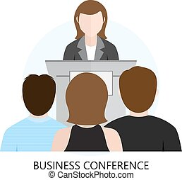 Conference Flat Design Icon