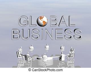 conference., globális, siker, befog