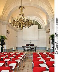 Conference hall. Villa Monastero, Italy