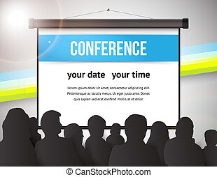 Conference illustration - Conference tamplate illustration ...