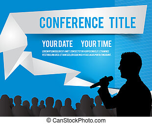 Conference illustration - Conference tamplate illustration...