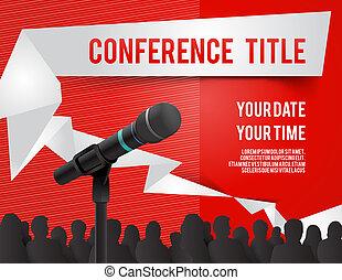 Conference illustration - Conference tamplate illustration ...