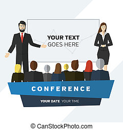 Conference illustration - Conference template illustration ...