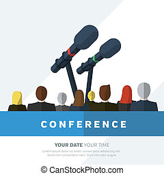 Conference template illustration with space for your texts