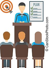 Conference people vector illustration.