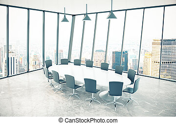 Conference room city - Conference room interior with...