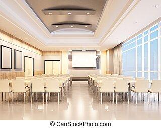 conference room design of 3d rendering