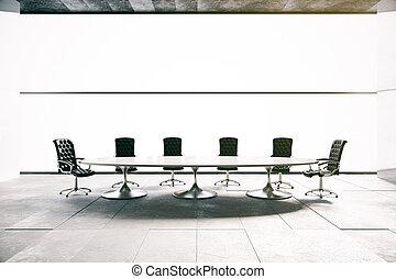 Conference room interior - Concrete conference room...