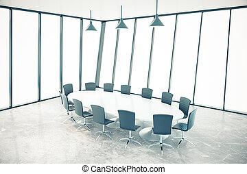 Conference room interior - Bright conference room interior...