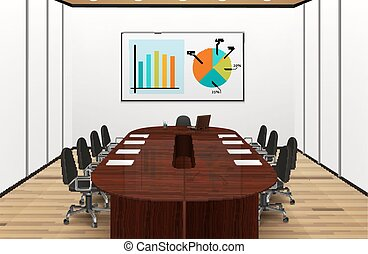 Conference Room Light Interior Illustration
