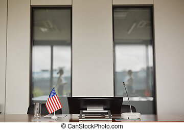 Conference Room with American Flag