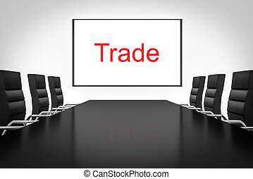 conference room with large whiteboard trade - conference...