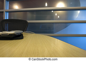 Formal Conference Room With Ip Phone On Table A Formal Conference