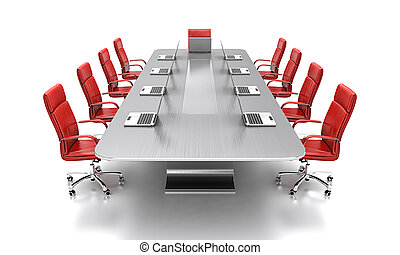 Conference Table Stock Photos And Images Conference Table - Red conference table