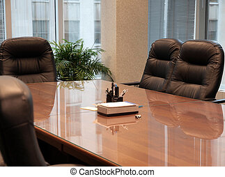Conference Table - Clean conference table with comfortable...