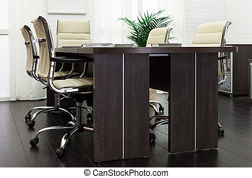 table in a modern office