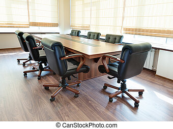 conference table in modern office interior