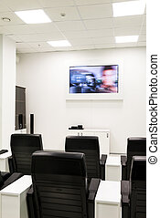 Conference training room with video