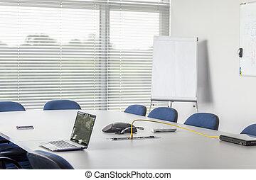 conferencia, corporación, habitación, facilidad