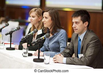 conferencia, empresa / negocio