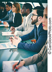 conferencia, empresarios