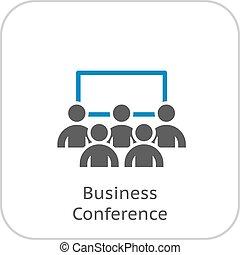 conferencia, icon., empresa / negocio