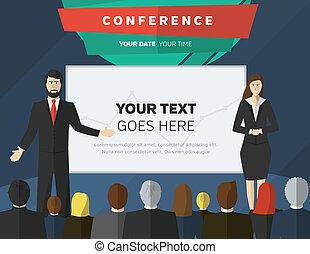 conferentie, illustratie