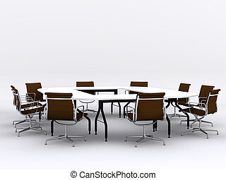 conferentie, stoelen, vergaderruimte, tafel