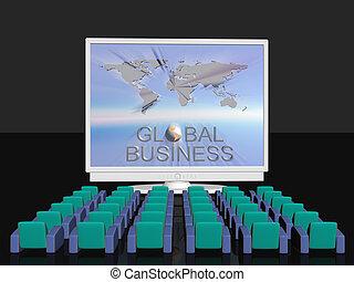 conferenza, affari globali