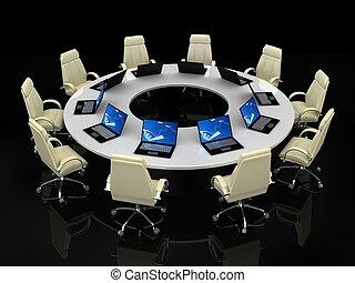 conferenza, concept., finanziario, affari