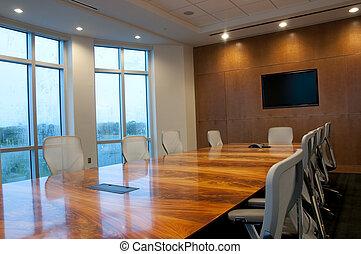 conferenza, costruzione, stanza, ufficio, nuovo