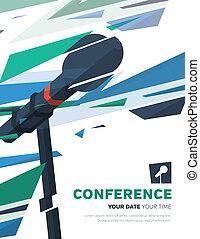 conferenza, illustrazione