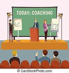 conferenza, istruire, illustrazione