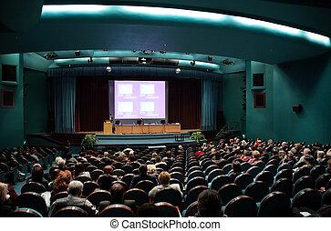 conferenza, persone