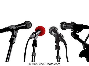 conferenza stampa, (vector)