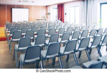 conferenza, stanza