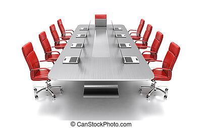 conferenza, tavola.