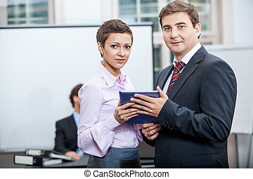 conferenza, ufficio affari, riunione, squadra, presentazione